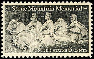 "Commemoration of the American Civil War on postage stamps - Jefferson Davis, Thomas J. ""Stonewall"" Jackson and Robert E. Lee"