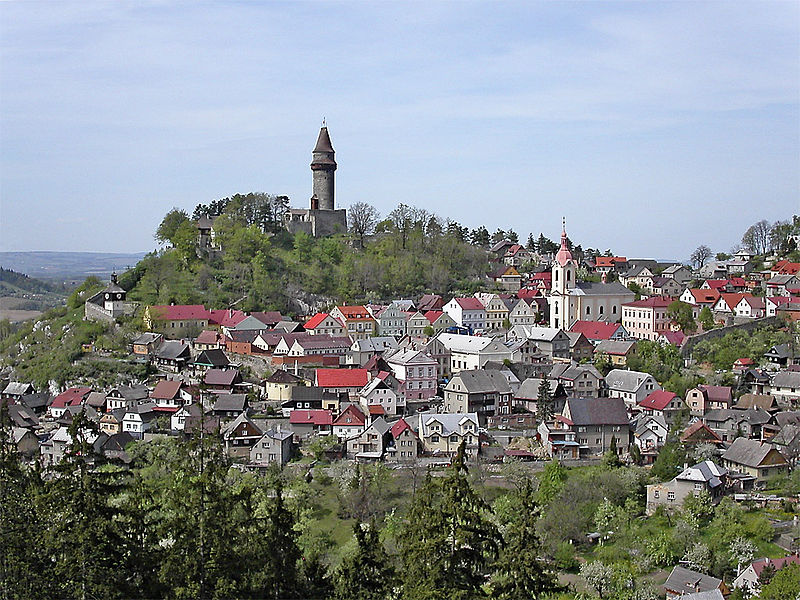 widok miasteczka stramberk
