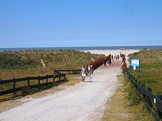 Schiermonnikoog - Image: Strandweg. Schiermonnikoog