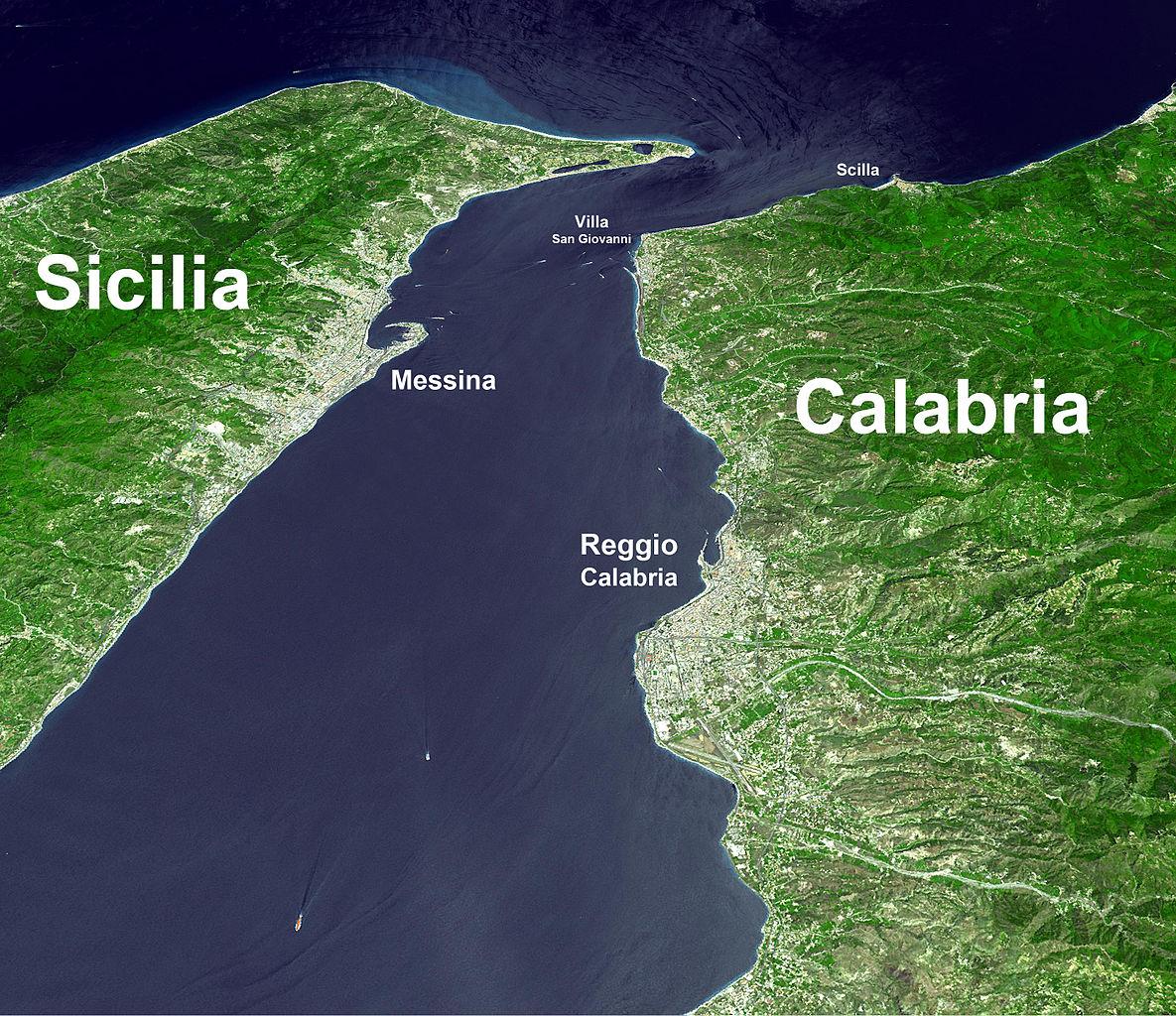 Cartina Sicilia Satellite.File Stretto Di Messina Satellite Jpg Wikipedia