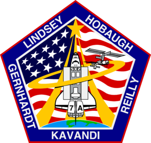 James F. Reilly - Image: Sts 104 patch