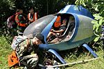 Students of the National Ground Search and Rescue School, Civil Air Patrol National Emergency Services Academy, respond to a simulated downed aircraft scenario at Camp Atterbury, Edinburgh, IndIANA.jpg