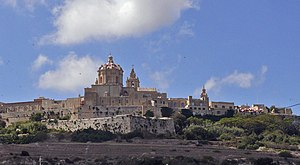 English: Mdina, the old capital of Malta