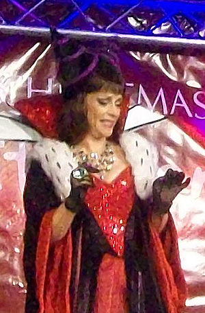 Sue Holderness - Sue Holderness at the Stevenage Christmas Lights Switch-on, 18 November 2010