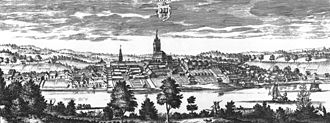 Nora, Sweden - Nora circa 1700, in Suecia antiqua et hodierna.