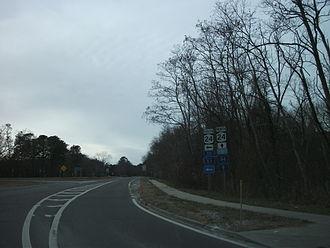 County Route 94 (Suffolk County, New York) - CR 94 and NY 24 north through Calverton