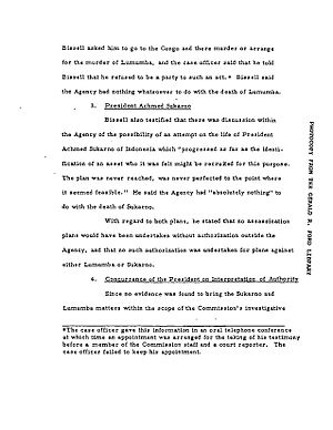 CIA activities in Indonesia - Image: Sukarno Assassination document