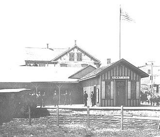 Oldest railroads in North America - Image: Summit Hill switchback station