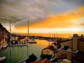 Sistiana - Image: Sunset over Sistiana Bay