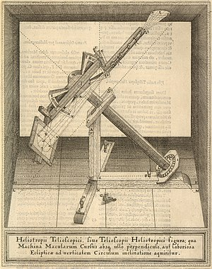Christoph Scheiner - A sunspot-instrument by Scheiner (printed between 1626-1630)