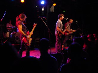 Laura Ballance - Performing live with Superchunk: Carrboro, North Carolina - 2006