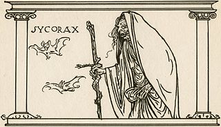 Sycorax unseen character in Shakespeares play The Tempest; powerful witch; mother of Caliban