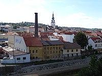 Třebíč, Vnitřní Město, z Masarykovy vyhlídky (01).jpg