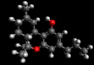 Tetrahydrocannabivarin - Image: THCV
