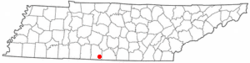 Location of Elkton, Tennessee