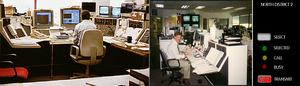 Dispatch (logistics) - Dispatch consoles used by Denver RTD, a transit service provider in a US city. Drawing at right illustrates the controls associated with a single channel on the console. Photos courtesy of US Department of Transportation.