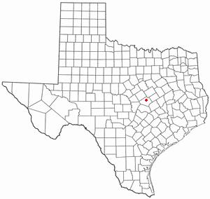 Morgan's Point Resort, Texas - Image: TX Map doton Morgans Point Resort