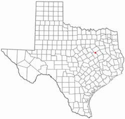 Location of Tehuacana, Texas