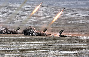 TOS-1 - Heavy flamethrower system TOS-1A in action