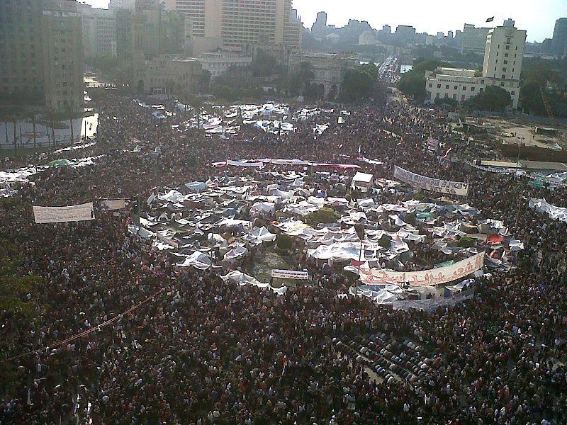 La revolución egípcia en la Plaza Tahrir