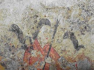 Asuka-Fujiwara - Image: Takamatsuzuka mural 2006 03 31
