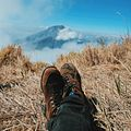 Take a break With the mountain view Sumbing in front.jpg