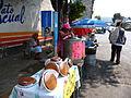 Tamales en calle de San Pedro Atocpan 1.JPG