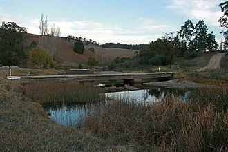 Tambo Crossing, Victoria - Current minor bridge crossing over the Tambo River at Tambo Crossing