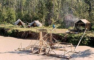 Tanana Athabaskans - Fish wheel into the Tanana River (Tth'itu') and Lower Tanana fish camp, 1997