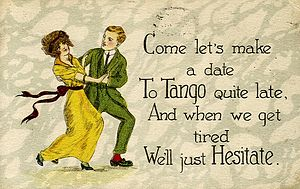 History of the tango - Tango postcard, c. 1919