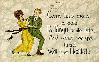 Tango - Tango postcard, c. 1919