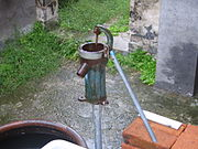 A manual water pump in China