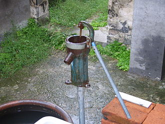 Nutrition - A manual water pump in China