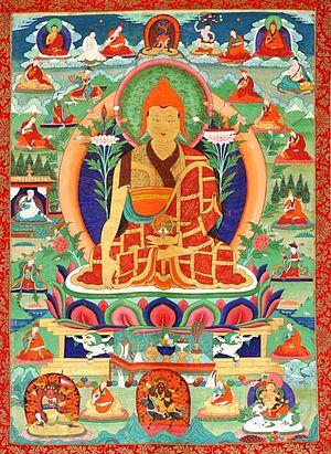 Taranatha - Traditional thangka rendering of Taranatha