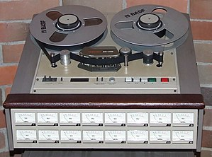 TASCAM - The TASCAM 85 16B analog tape recorder can record 16 tracks of audio on 1-inch (2.54cm) tape.