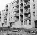 Tatabánya 1973, Dózsakert lakótelep, Vadász utcai ház. Fortepan 28832.jpg