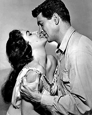 Rock Hudson - Hudson, pictured with Elizabeth Taylor in Giant (1956), the film that led to his only Academy Award nomination