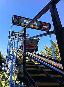 The Lift Hill Of Technic Coaster At Legoland California