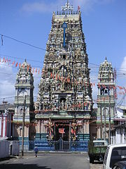 The Murugan Hindu temple in slave island district