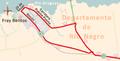 Tercera etapa de la Vuelta Ciclista Chaná 2015. Paso por el departamento de Río Negro.png