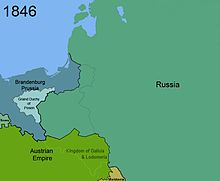Territorial changes of Poland 1846