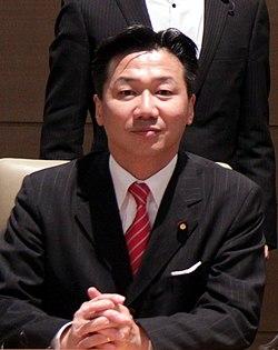 Tetsuro Fukuyama cropped 1 Members of the Global Legislators Organization for a Balanced Environment Edward Davey and Tim Hitchens 20130530.jpg
