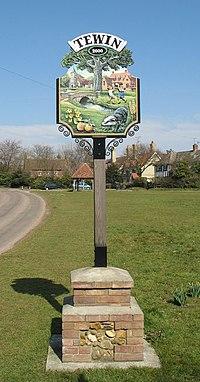 Tewin Village Sign - geograph.org.uk - 141082.jpg