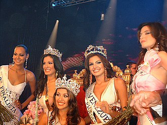 Beauty pageant - Miss Venezuela 2007 winners, in the center Dayana Mendoza, Miss Universe 2008