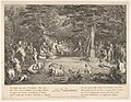 The Birth (La Naissance)- in a forest, the new mother resting in a hammock at center, the newborn below her to left, various satyrs and goats surrounding, from 'The lives of satyrs' (La vie des satyres) MET DP832472.jpg