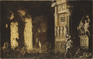 The Burning of Troy with the Flight of Aeneas and Anchises
