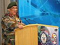 The Chief of Army Staff, General Bipin Rawat addressing the gathering at the Workshop and Exhibition on CBRN Defence Technologies to showcase products and technologies developed towards Chemical, Biological.jpg