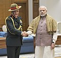 The Chief of Army Staff, General Bipin Rawat calling on the Prime Minister, Shri Narendra Modi, in New Delhi on January 11, 2017.jpg