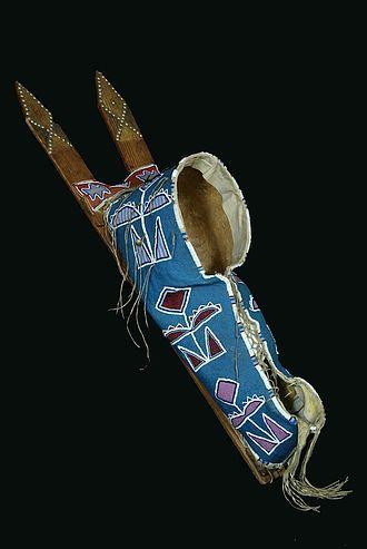 Cradleboard - Kiowa cradle board in the Indianapolis Children's Museum