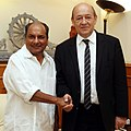 The Defence Minister of the France, Mr. Jean Yves Le Drian calling on the Defence Minister, Shri A. K. Antony, in New Delhi on July 26, 2013.jpg